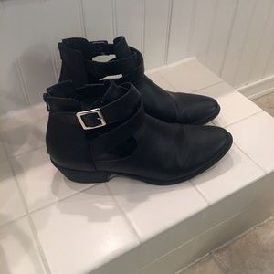 Black Charlotte Russe Booties size 8.5